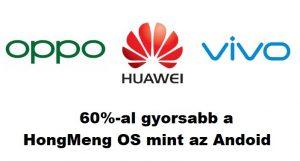 A Huawei új operációs rendszer 60 százalékkal gyorsabb mint az Android?